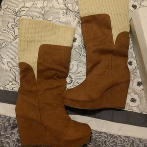 Wedge boots- Francesca's